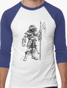 Ridley, the Dragonborn Fighter Men's Baseball ¾ T-Shirt