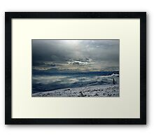 On the top of the World - Snow and Sky III Framed Print