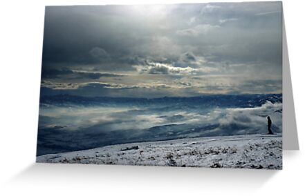 On the top of the World - Snow and Sky III by Anton Oparin