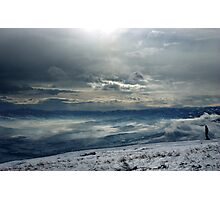 On the top of the World - Snow and Sky III Photographic Print