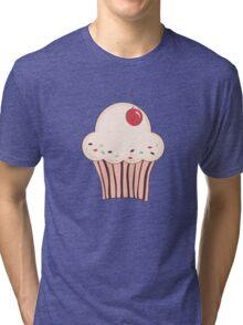 Cupcake with cherry Tri-blend T-Shirt