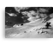 On the top of the World - Snowbasin Ski Slopes BW Canvas Print