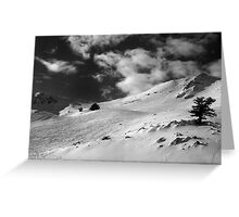 On the top of the World - Snowbasin Ski Slopes BW Greeting Card