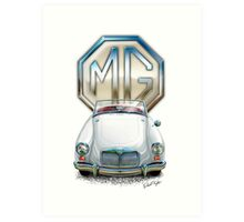MGA Sports Car Print in White Art Print