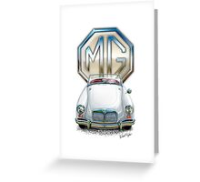 MGA Sports Car Print in White Greeting Card