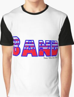Band Red White & Blue Graphic T-Shirt