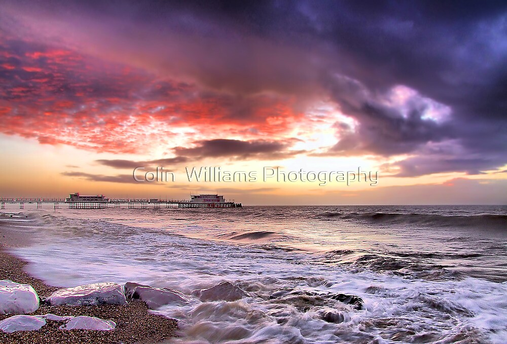 Worthing Beach Sunrise 4 - Boxing Day 2012 - HDR  by Colin  Williams Photography