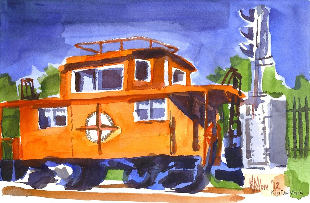 Caboose with Silver Signal by KipDeVore