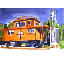 Caboose with Silver Signal Photographic Print
