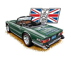 Classic Triumph TR-6 sports car Photographic Print