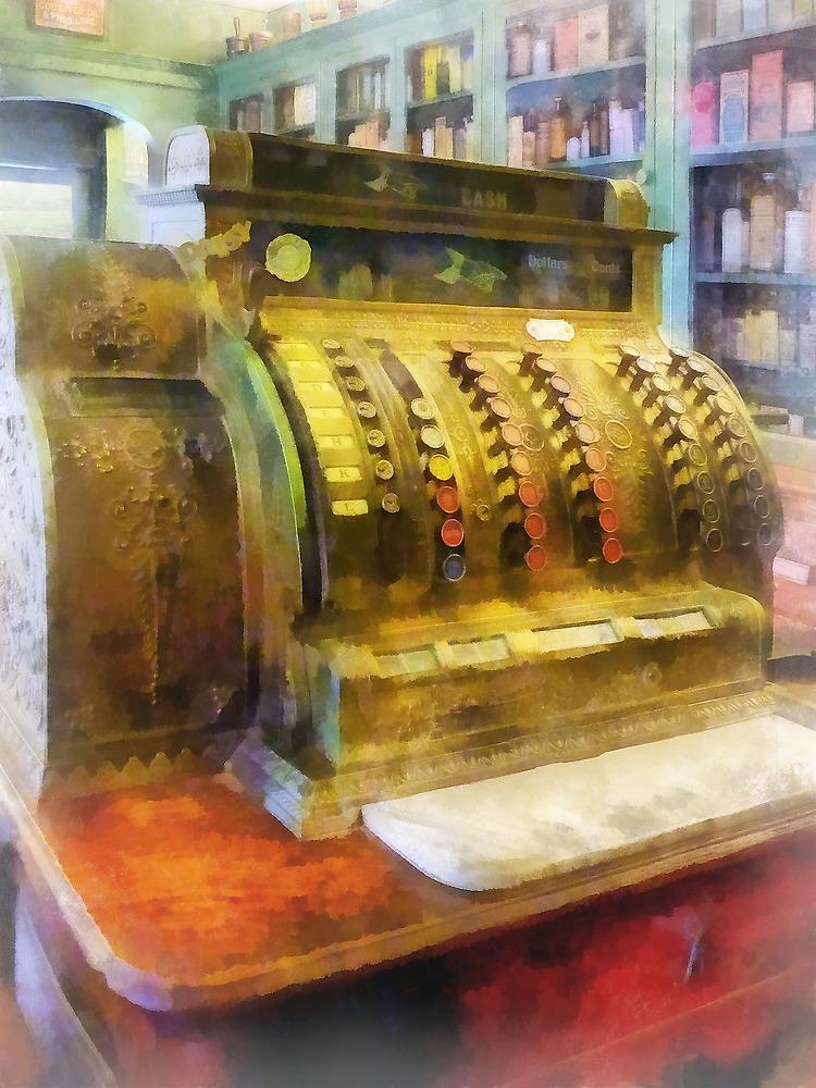 Pharmacist - Cash Register in Pharmacy by Susan Savad