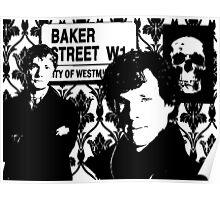 Sherlock silhouette Poster