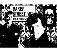 Sherlock silhouette Photographic Print