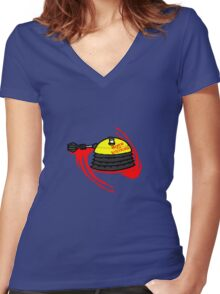 Born to Exterminate(Eternal) Women's Fitted V-Neck T-Shirt