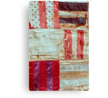 Aged Silk Quilt Canvas Print