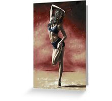 Sultry Dancer Greeting Card