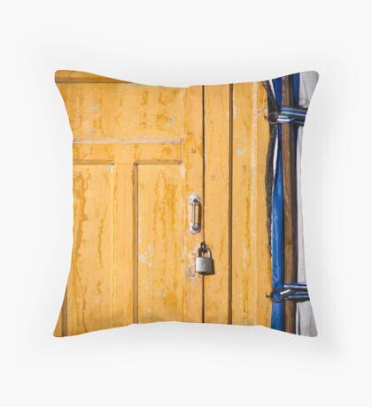 Ger door detail Throw Pillow