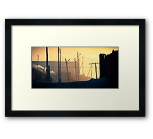 Nalaikh hazy sunset Framed Print