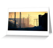 Nalaikh hazy sunset Greeting Card