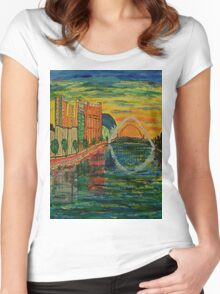 Gateshead Quayside Women's Fitted Scoop T-Shirt