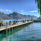 On the Wharf at Lake Wakatipu by Larry Davis