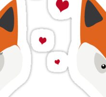 Fox in love Sticker