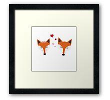 Fox in love Framed Print
