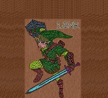 Link with sword and shield card by ChrisNeal