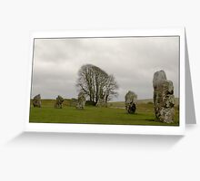 Avebury Stones Greeting Card