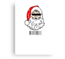 Bad Santa brought in for questioning on Christmas eve  Canvas Print