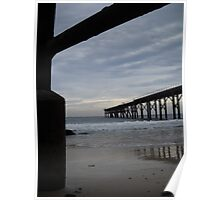 Under the jetty - Catherine Hill Bay Poster
