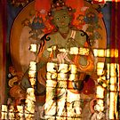 Light patterns over Tibetan Thanka painting by UniSoul