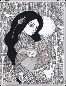 Milk Thistle Moon by Anita Inverarity