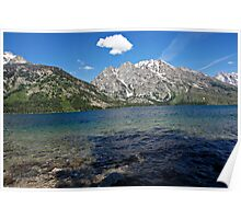 Grand Tetons Jenny Lake Northwest View Poster