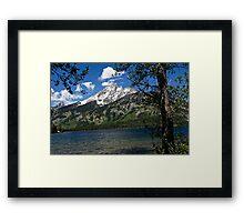 Grand Tetons Mountain and Jenny Lake Framed Print