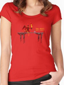 You shall not pass! Women's Fitted Scoop T-Shirt