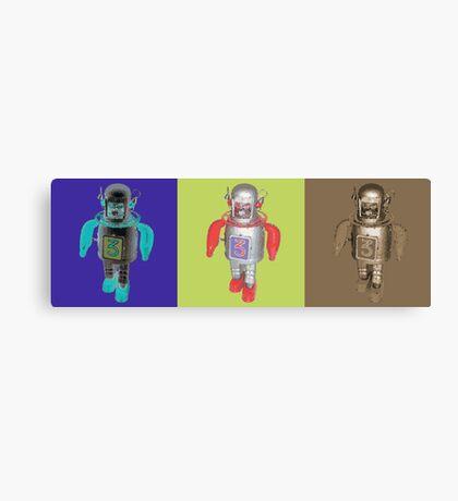 RETRO ROBOTS Canvas Print