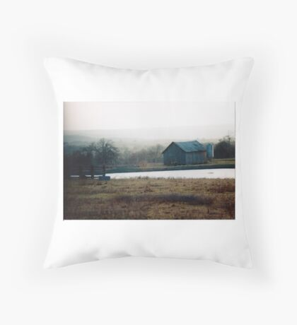 Misty Country Throw Pillow