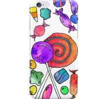 Scattered Colorful Watercolor Hand Drawn Candy iPhone Case/Skin