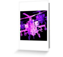 Apache Helicopter Greeting Card