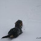 Playing In The Snow by Lorelle Gromus