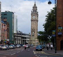 Belfast Leaning clock tower by Yukondick