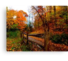 Wooden guideposts of the season Canvas Print