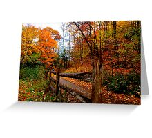 Wooden guideposts of the season Greeting Card