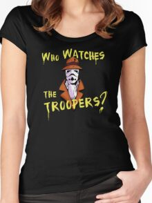 Who Watches The Troopers? Women's Fitted Scoop T-Shirt