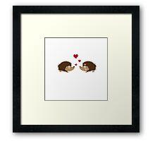 Hedgehogs in love Framed Print