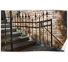 Wrought Iron Shadow Poster