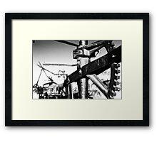 Old Iron #3: Carrizo Plains Framed Print