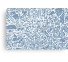 London Street Map Canvas Print