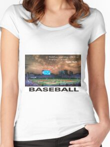 Baseball Women's Fitted Scoop T-Shirt